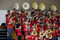 Pep Band in red shirts